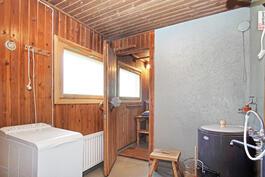 Pesuhuone + puusauna.