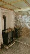 Kellarikerroksen saunatila