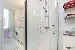 Raikkaan valkoinen kylpyhuoneen värimaailma