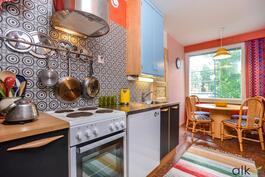 Kodikas keittiö on rakkaudella toteutettu