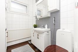 Erillinen wc uudemmassa talossa