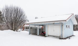 Autotalli-varasto ja katosrakennus