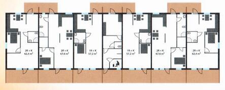 A5 on toinen asunto vasemmalta, andra lokalen från vänster