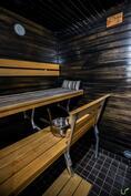 Oma sauna on todella tunnelmallinen!