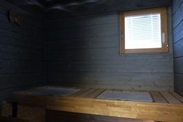 sauna, lähes käyttämätön