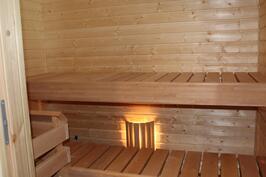 Referenssitalon sauna