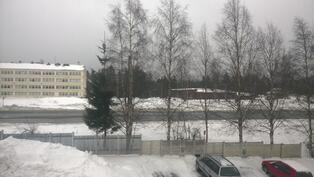 Näkymä Parppein koululle ja Liikuntahallille