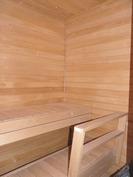 sauna, tervaleppälauteet ja panelit