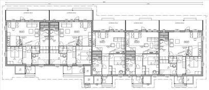 Huoneistojen sijoittuminen talossa
