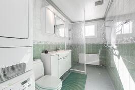 Yläkerran kylpyhuone/wc.