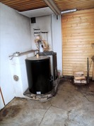 Kellarikerroksessa sauna