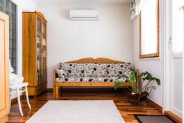 Olohuoneen viereinen huone soveltuu kirjastoksi, oleskeluun tai makuuhuoneeksi!