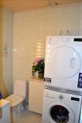 erillinen wc, pesukoneen paikka