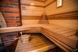 Omaan saunaan on ihanaa mennä rentotumaan.