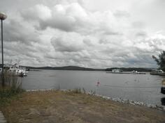 Venesatamasta näkymä päijänteelle