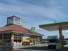 ABC-palveluasemalle vain n. 5 km, jossa myös mm. pankki pankkiautomaatein.