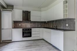 Upeasti remontoitu keittiö
