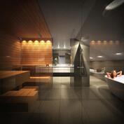 Taiteilijan näkemys saunaosastosta, ei välttämättä vastaa todellisuutta