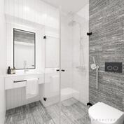 Kylpyhuone tummansävyisenä (lisähinnoiteltu)