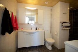 tilavassa saunaosastossa myös kakkos-wc