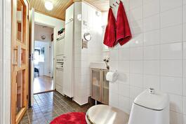 Siistikuntoinen kylpyhuone/ Snyggt badrum.