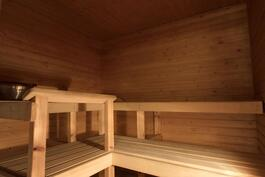 todella tilava sauna
