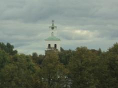 Neljännen kerroksen näkymää kirkon suuntaan.