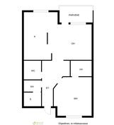 asunto 3 ja 6 sekä peilikuva asunnosta 1
