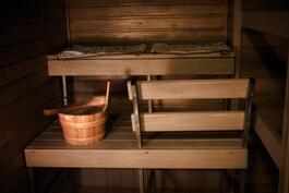Oma sauna kylpyhuoneessa