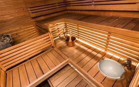 Upea tunnelmallinen sauna rentoutumiseen!