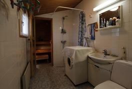 Pesuhuone ja wc yhdessä