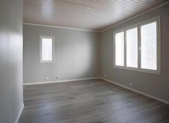 Alakerran makuuhuone, lattialämmitys
