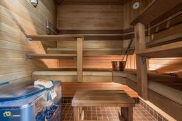 Saneerattu sauna (heti valmis kiuas)