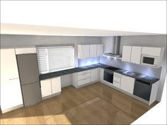 Havainnekuva keittiösuunnitelmasta