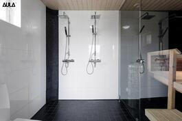 Kylpyhuone ja sauna - niin on ... tyylikäs yhdistelmä!