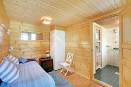 Tunnelmallinen saunaosasto.