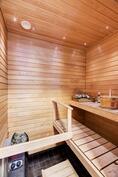 Mukavan kokoinen sauna