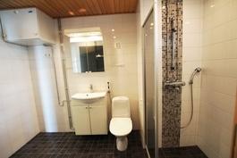 tilaa pesutornille, 2. wc-varustus, suihkuseinäke