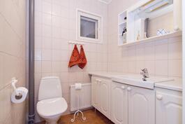 Kaksi erillistä wc:tä.