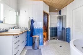 Kylpyhuone poreammeella / Badrum med bubbelbadkar