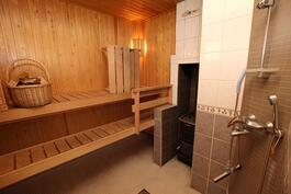 Työhuone, sauna ja pesutilat