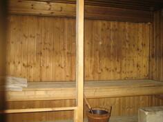 ... alakerrassa tilava saunaosasto, jossa mm. puulämmitteinen kiuas ja ...