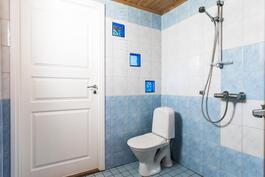 Kylpyhuoneessa on wc sekä