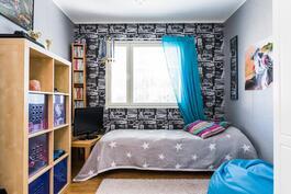 Kodin neljäs makuuhuone on kodinhoitohuoneen läheisyydessä