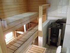 Huvilan kaunis sauna