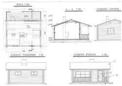 Päärakennuksen piirrustukset, kuva 1