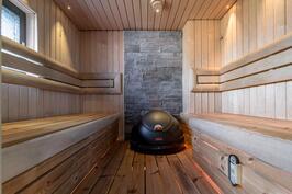 sauna ja hetivalmis kiuas
