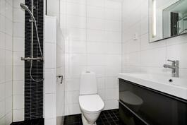 suurimman makuuhuoneen yhteydessä kylpyhuone