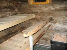 Siisti sauna houkuttelee kylpijää
