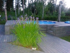 kesällä voit nauttia uima-altaasta